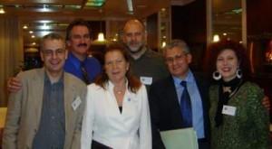 Lugano (Švicarska) 2006 - S lijeva na desno: Nick Pope, Derrel Sims, ne sjećam se imena gospođe u bijelom, Nikola Duper, Roberto Pinotti, Candida Mammoliti